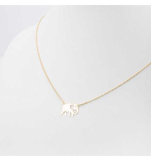 Złoty naszyjnik celebrytka ze słoniem