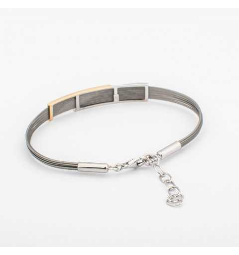 Pozłacana srebrna bransoletka na linkach