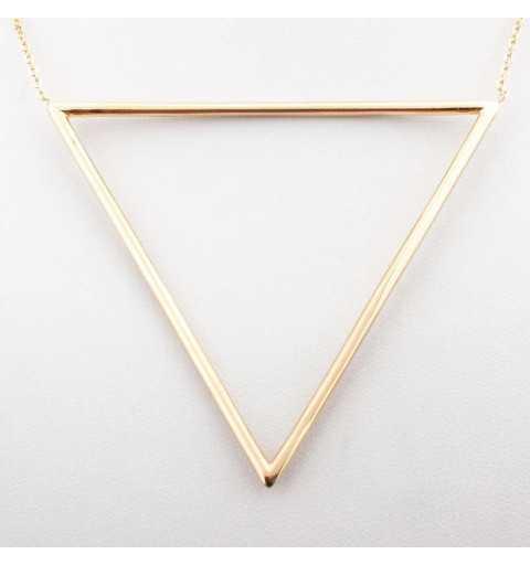 Pozłacany srebrny naszyjnik z dużym trójkątem