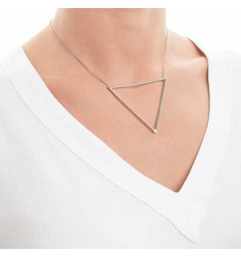 Srebrny naszyjnik z dużym trójkątem