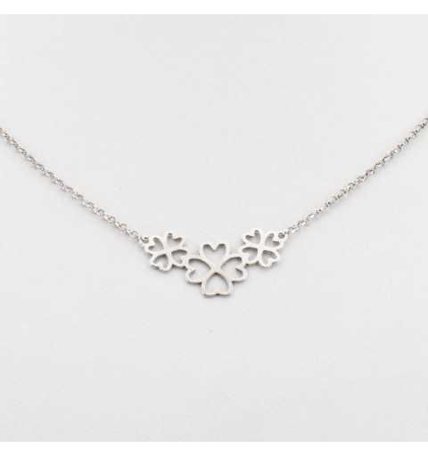 Srebrny naszyjnik z kwiatkami