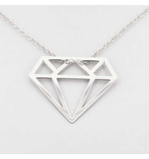 Srebrny naszyjnik diament