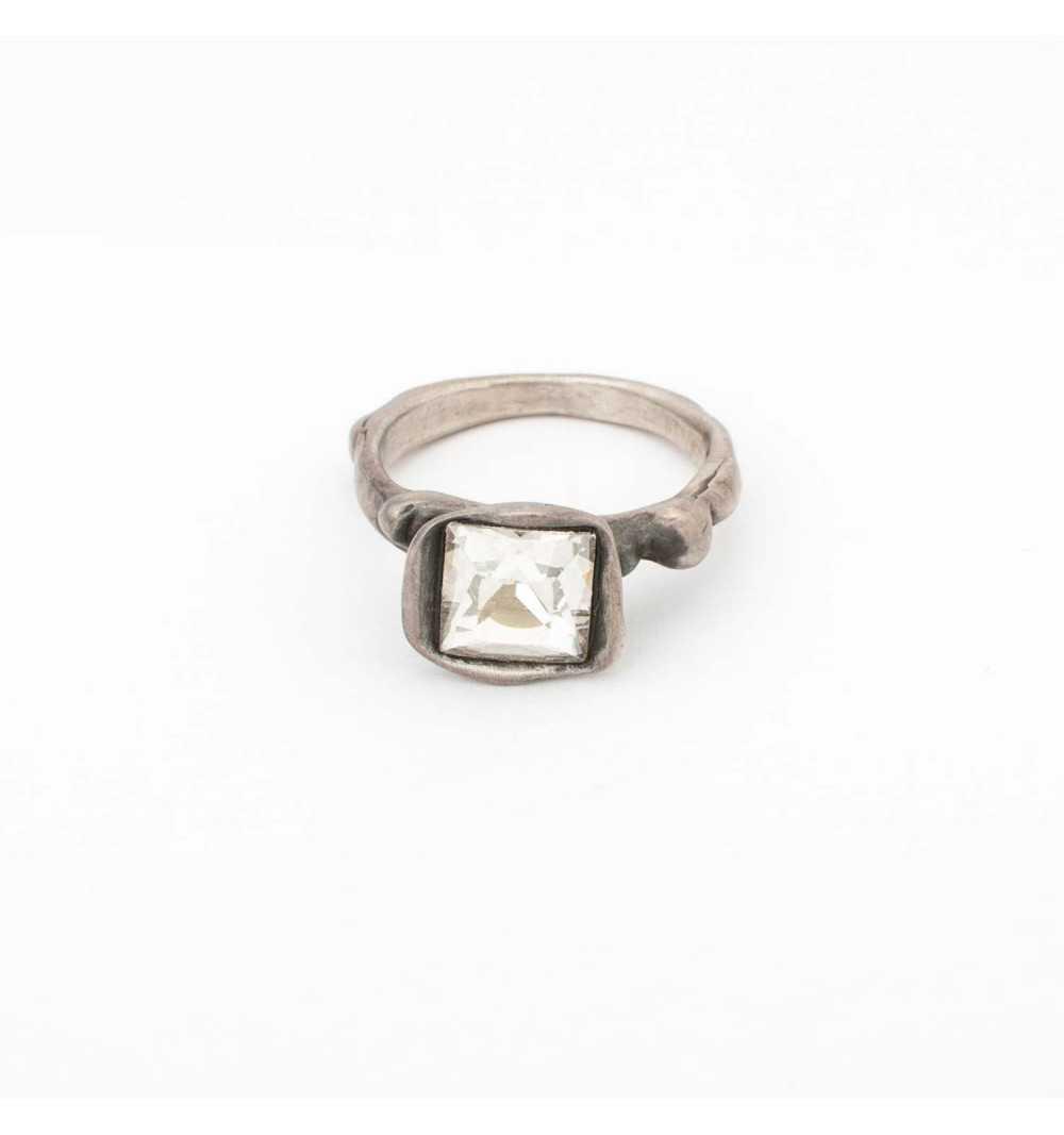 Srebrny pierścionek MOTYLE - antyczna szarość