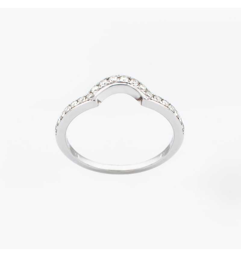 Złoty pierścionek z brylantami 0,22ct