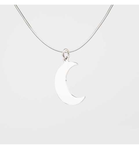 Srebrna zawieszka półksiężyc