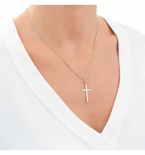 Srebrny naszyjnik klasyczny krzyżyk