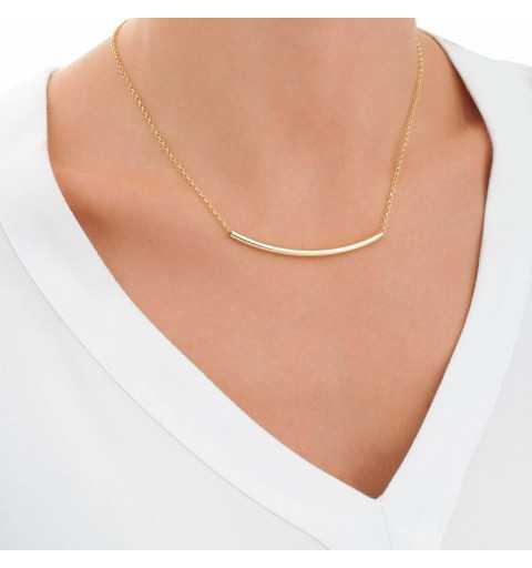 Pozłacany srebrny naszyjnik z elegancką rurką