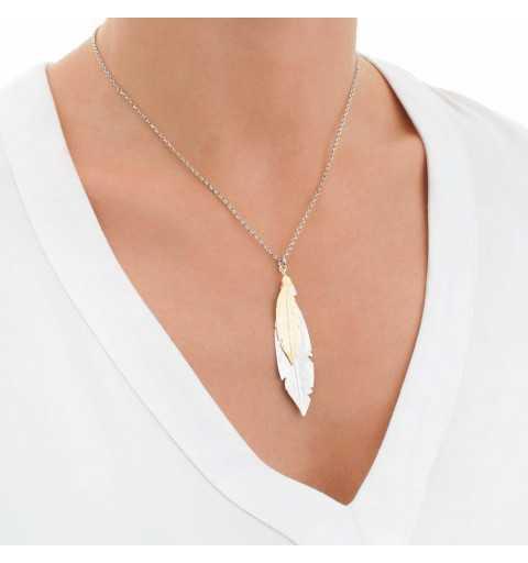 Srebrny naszyjnik z piórkami