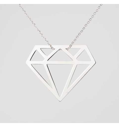 Naszyjnik diament ze srebra