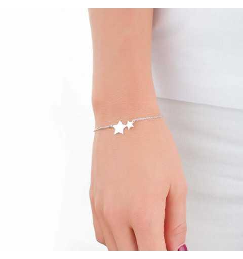 Srebrna bransoletka z gwiazdkami