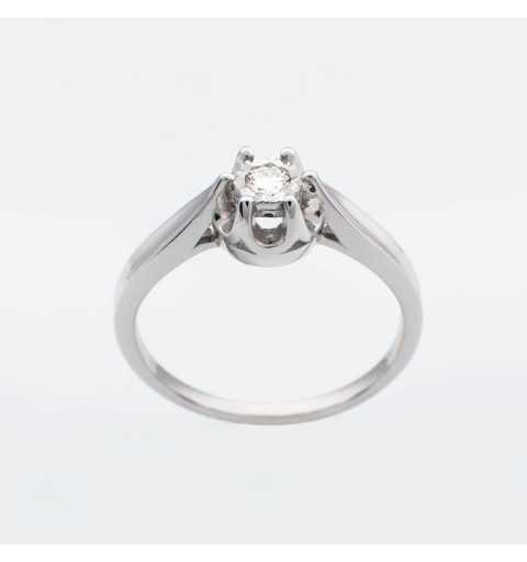 Złoty pierścionek z brylantem 0,08ct