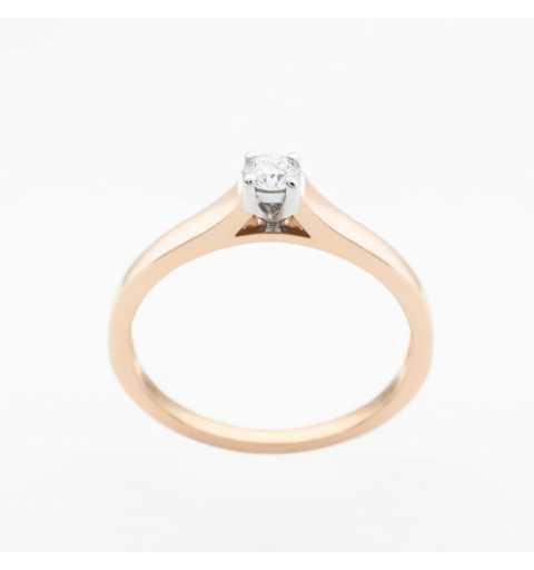 Złoty pierścionek z brylantem 0,10ct