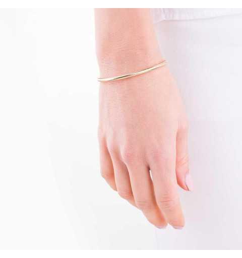 Złota bransoletka rozciągana jak gumka