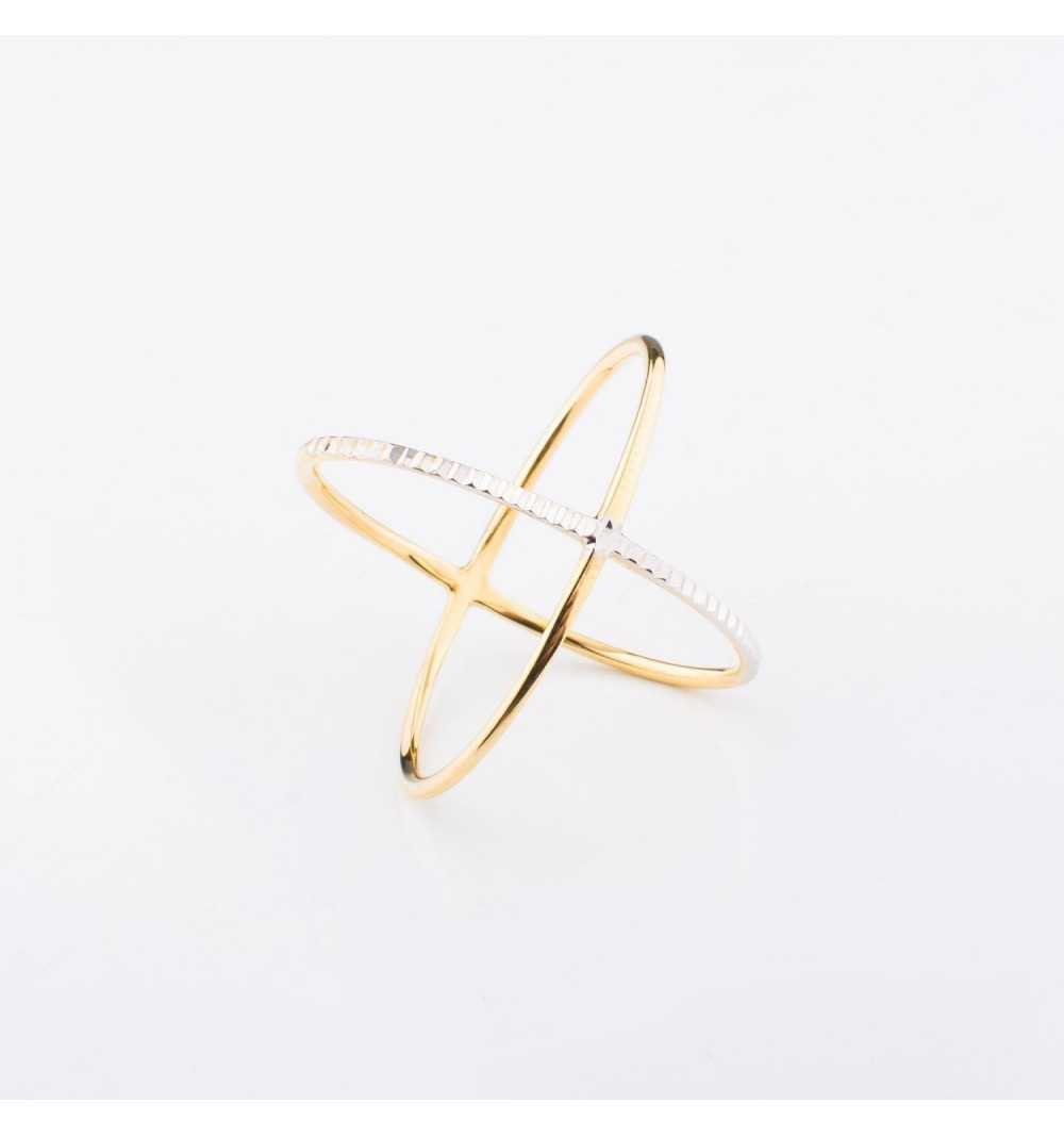 Złoty pierścionek elips