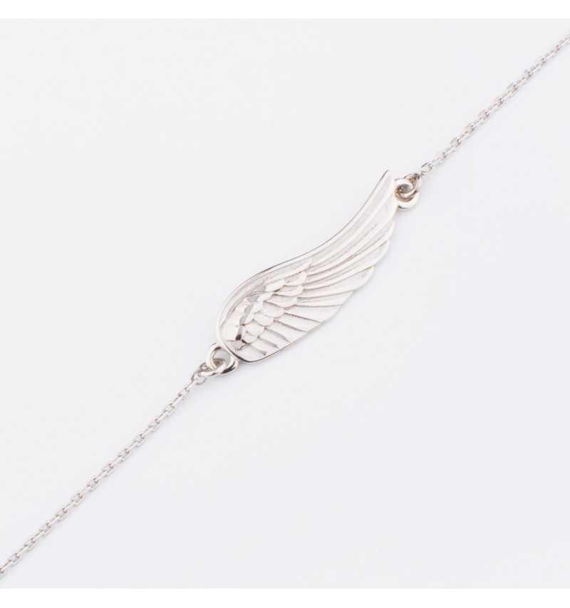 Srebrna bransoleta z delikatnym skrzydełkiem