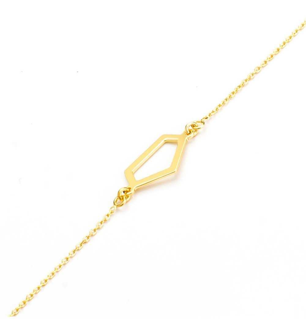 Pozłacana srebrna bransoletka z geometrycznym kształtem
