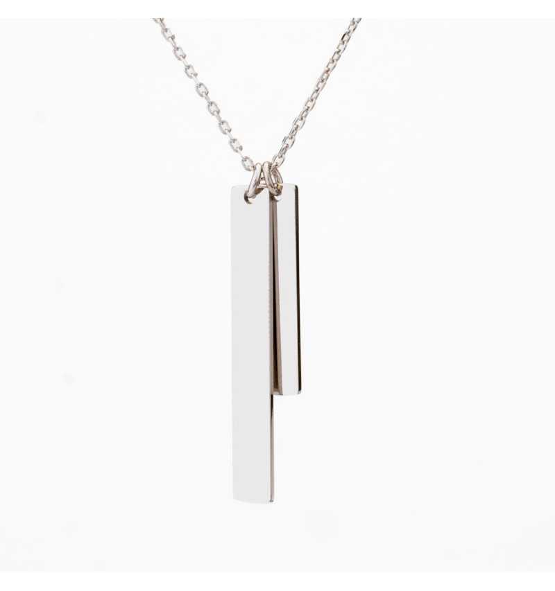 Srebrny naszyjnik blaszki personalizowane