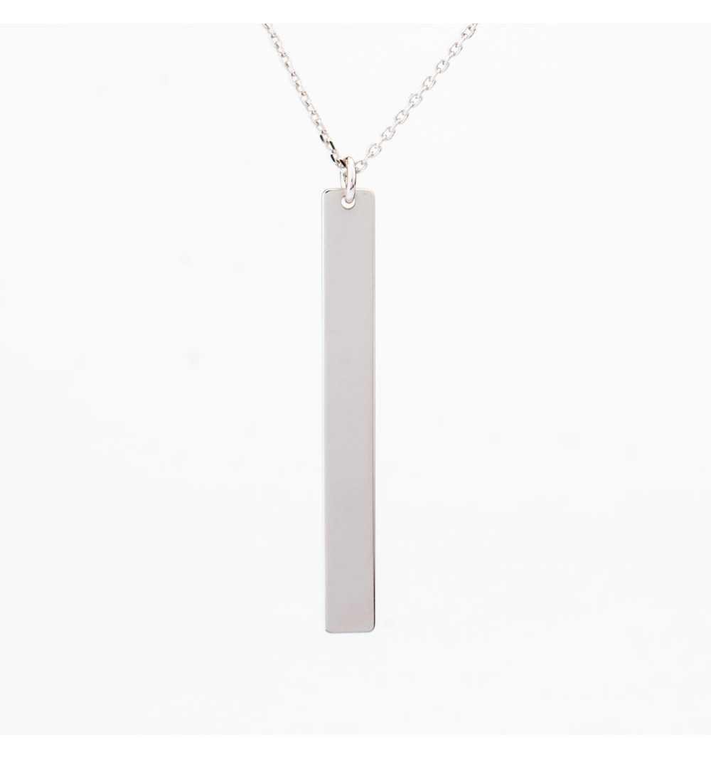 Srebrny naszyjnik blaszka personalizowana