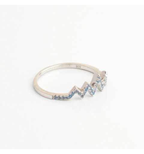 Srebrny pierścionek rytm serca