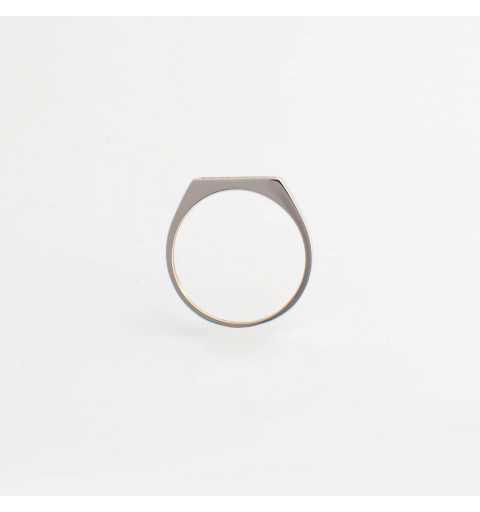 Srebrny minimalistyczny pierścionek czarne cyrkonie