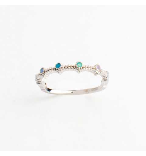 Srebrny pierścionek diadem