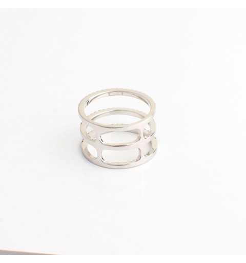 Srebrny pierścionek tunel gradientowane kolory