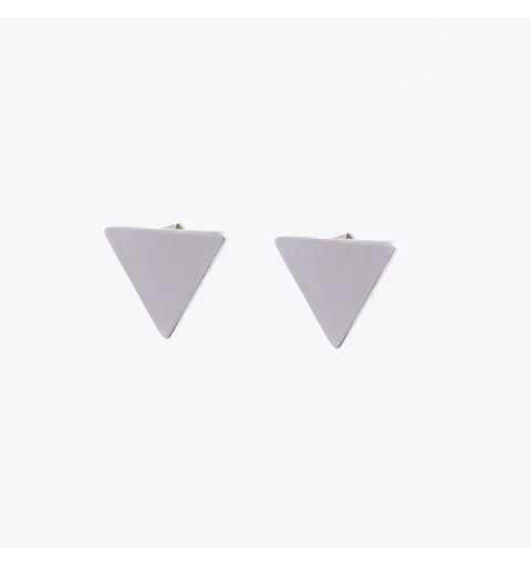 Srebrne kolczyki trójkąty