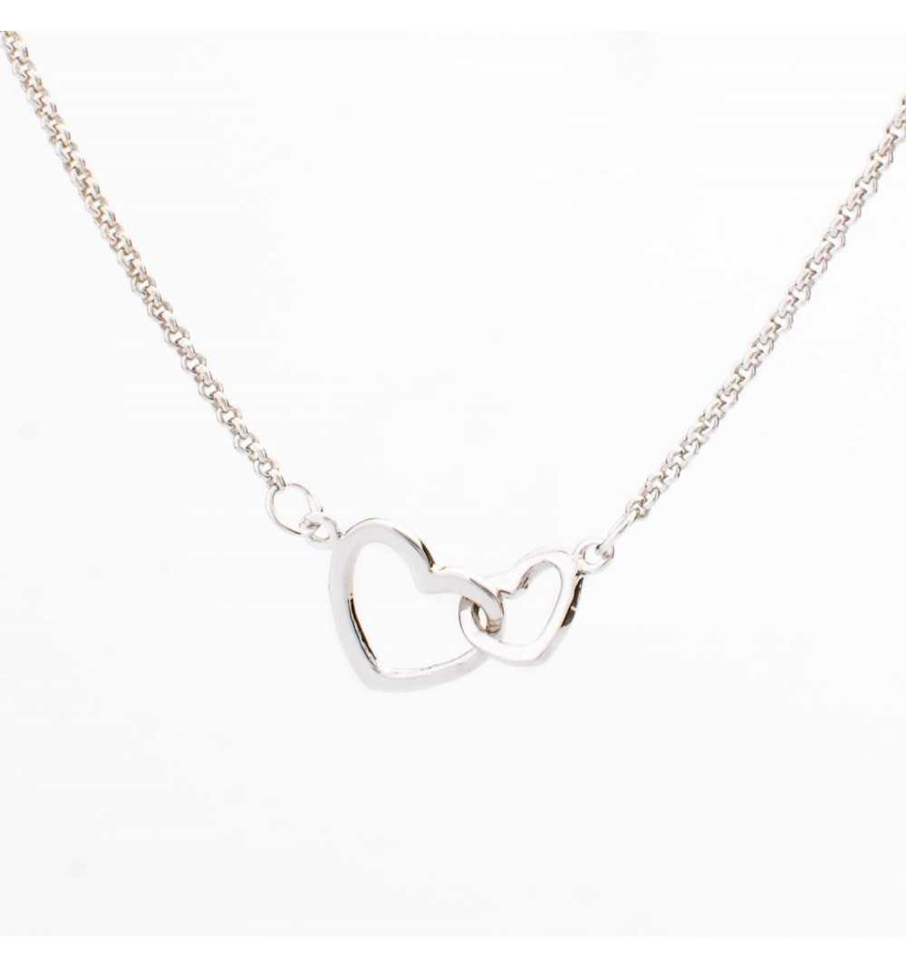 Srebrny naszyjnik dwa serca