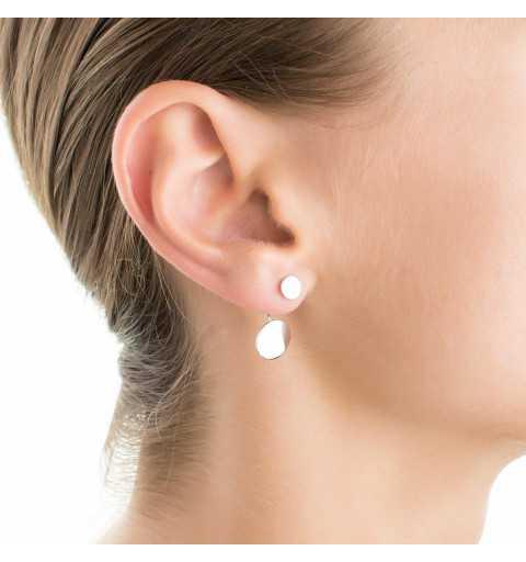 Srebrne kolczyki za ucho pchełki