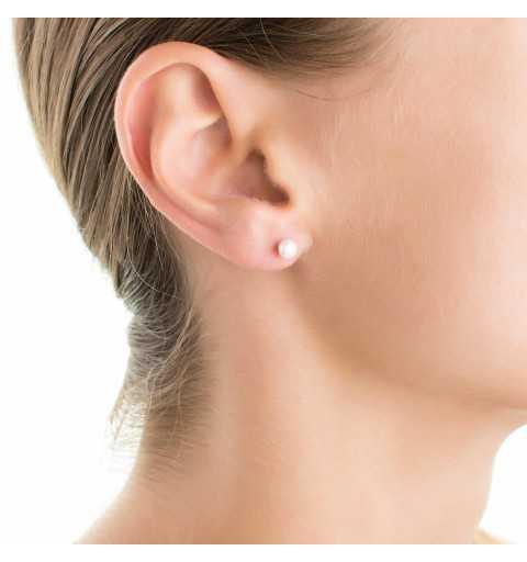 Srebrne kolczyki za ucho z perłami