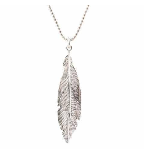 Srebrny naszyjnik pióra