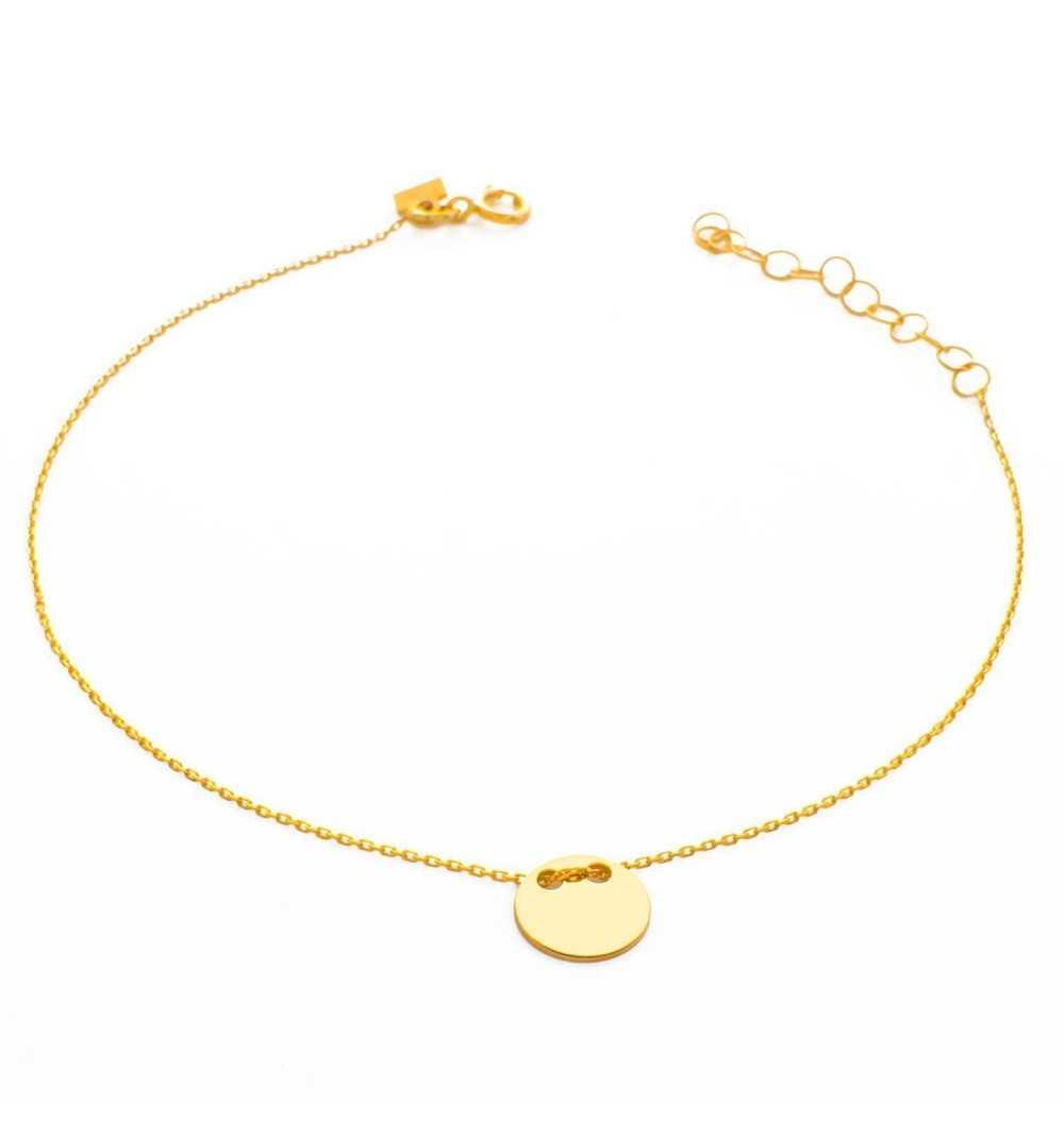 Złota bransoletka z kółeczkiem