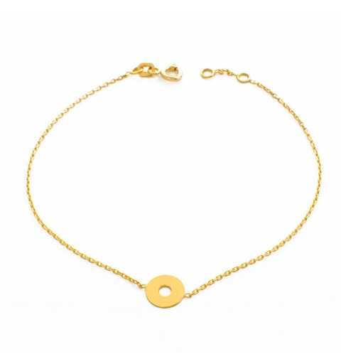Złota bransoletka z oponką