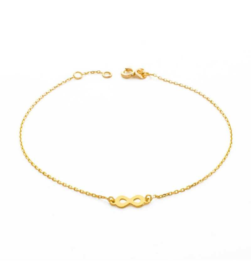Złota bransoletka z symbolem nieskończoności