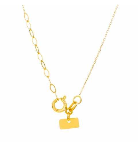 Złoty naszyjnik celebrytka z kółkiem