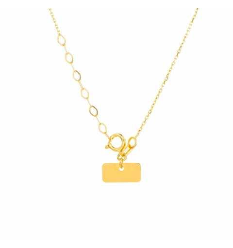Złoty naszyjnik celebrytka serduszko z kółeczkiem
