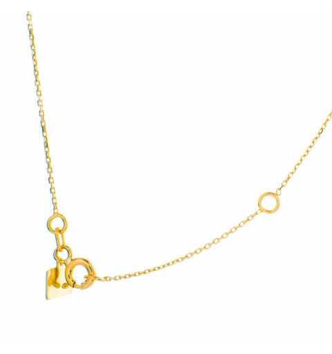 Złoty naszyjnik celebrytka diament