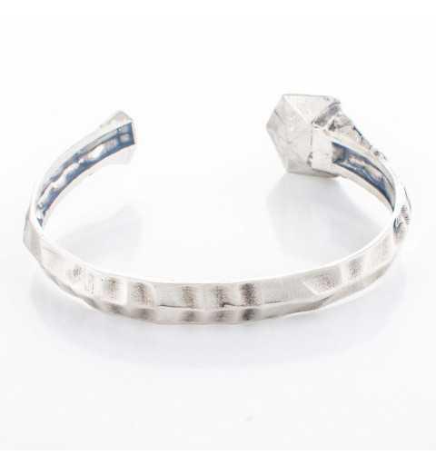 Srebrna bransoletka MOTYLE antyczne srebro oksydowana z Kryształem Swarovskiego Crystal Sahara