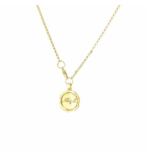 Srebrny naszyjnik MOTYLE złocony królewskim złotem 24 k z kryształem Swarovskiego SCARABAEUS GREEN
