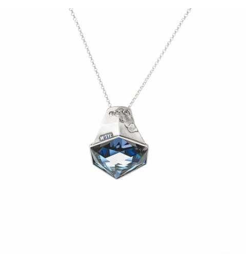 Srebrny naszyjnik MOTYLE antyczne srebro oksydowane z Kryształem Swarovskiego Crystal Sahara