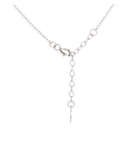 Srebrny naszyjnik z nieskończonością wysadzaną cyrkoniami