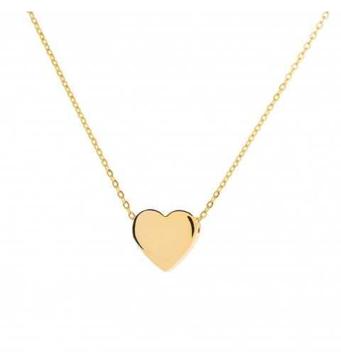 Złoty naszyjnik celebrytka delikatne serce