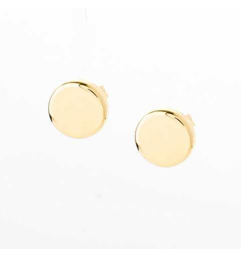 Złote kolczyki owalne 4 w 1