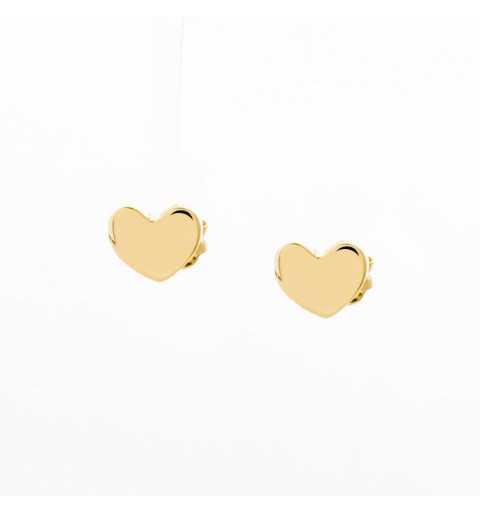 Złote kolczyki serca