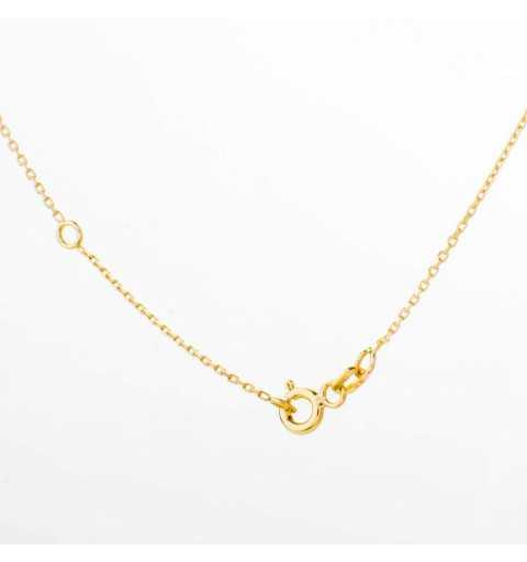 Złoty naszyjnik celebrytka drobne kółeczka