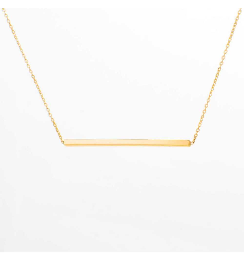 Złoty naszyjnik celebrytka pałeczka