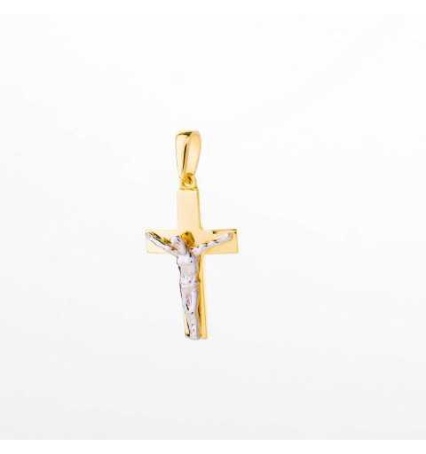 Złoty krzyżyk z wizerunkiem Jezusa