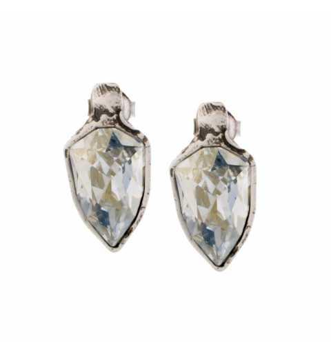 Srebrne kolczyki MOTYLE na sztyfty z Kryształami Swarovskiego Blue Shade MS4535