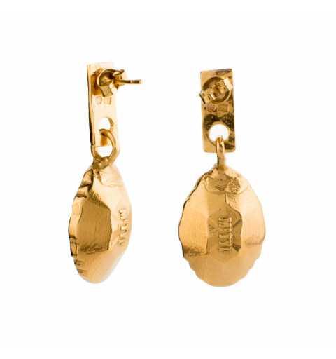 Srebrne kolczyki MOTYLE złocone królewskim złotem z Kryształami Swarovskiego Peridot Scarabeus Green MG4539