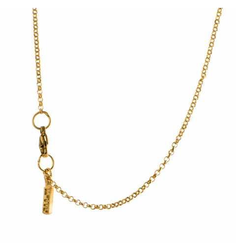 Naszyjnik MOTYLE złocony 24 karatowym złotem z rubinowym Kryształem Swarovskiego Scarlet MG2537